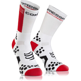Compressport Racing V2.1 Bike Chaussettes hautes, white/red